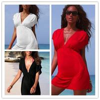 [AMNY-004]Europe and the United States stretch ice silk beach and beach dress, the bikini smock+Free shipping  shipment