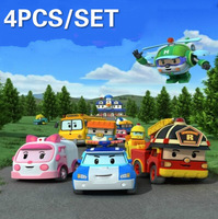 Wholesale High quality Robocar poli 4pcs Deformation Car Robots South Korea Classic Action Figure Toys