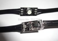 Black DC12V WS2811 led 5050 SMD pixel node;100pcs a string;black wires;5cm wire spacing;size:10mm*20mm