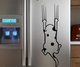 خرافية ملصقات الحائط الكرتون الطفل الحقيقي الثلاجة ملصقات الحائط بلاط المطبخ مجلس الوزراء الزجاج والأثاث القط يقتبس الملصقات مساعدة(China (Mainland))