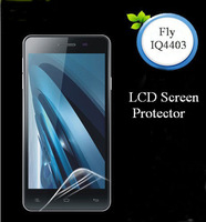 10pcs/lots Screen Protector + Cleaning Cloth For Fly IQ4403 Energie 3 Clear Film Without Retail Package Free Shipping