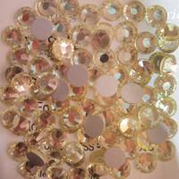 SS4(1.5mm) 1440pcs New Crystal Flatback Non hot Fix 3d Nail Art Decorations Glitter Glass Rhinestones DIY Nail Tools Jonquil 011