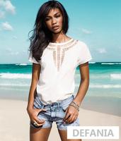 2014 Women's Hot Simple Shirts Solid Chiffon shirts Free Shipping