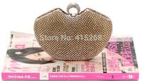 Luxiry shinning lady evening bag crystal chain handbag bride handbag wedding clutch bags