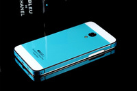 Hot 2014 New Arrival Cool tempered glass + metal edge Phone Case cover for Meizu MX3 Skin Protect Case Free Shipping