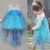 Wholesale Elsa Frozen Dress For Girls new 2014 Princess Dresses baby & kids summer Girl Dress Children girls' Clothing