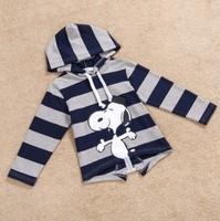 new 2014 children boy girl fashion autumn fall long sleeve striped cartoon hoody outerwear kids unisex casual hoodies wholesale
