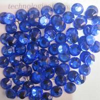SS4(1.5mm) 1440pcs Crystal Flatback Non hot Fix 3DNail Art Decorations Glitter Glass Rhinestones DIY  Nail Tools Sapphire 006