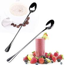 Multi- Propósito 1pair acero inoxidable cuchara de mezcla para la crema helada de café de acero inoxidable cucharas HSHD4737-2PC(China (Mainland))