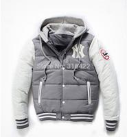 HOT SALE!2014 new Baseball Sport Winter Men's Down Jacket Cotton Warm Coat free shipping  A122