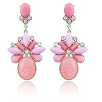 4 colors New High Quality Fashion Romantic Elegant Charm Geometry water drops Big Gem Rhinestone Earrings for women 2014 M11