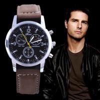 New fashion leather sport watches luxury brand quartz watch business military watches men hour clock relogio masculino relojes