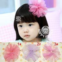 Free Shipping! New Baby/Infant Girl Chiffon Bownot Hairclips/Hairpins/Hair Accessories/Bow Clip 10pcs/lot Free Shipping FJ-14053