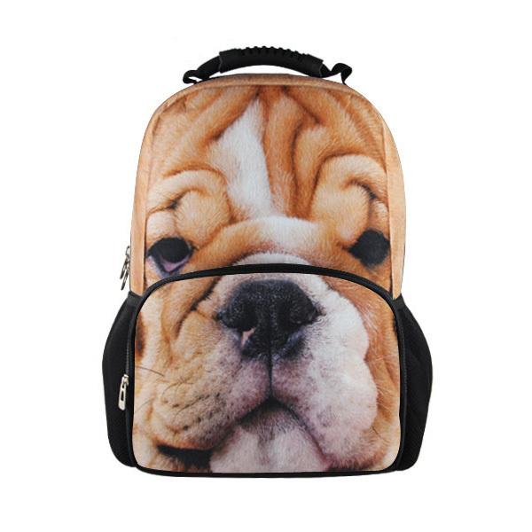 2014 новинка животных печать собаки мужчины рюкзак ...