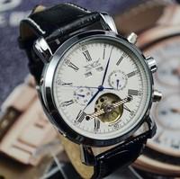 Hot ! casual fashion JARGAR mechanical watch, hollow dress six-pin men sports watches