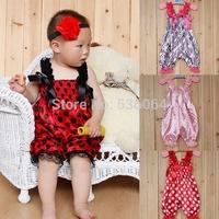 Hot Baby Girl Ruffle Rompers Dress Infant Children Tutu Lace Pants Vest Jumpsuit girls dress free shipping