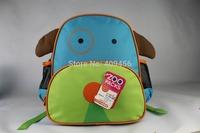 100pcs/lot CUTE PUPPY DOG school bag Canvas Zoo packs little kid backpacks Zoon animal print school bag girls Boys shcool bag