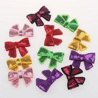 4.5CM Sequin Bow-Boutique Style-Mini Bows / Bows Appliques Hair DIY accessories 20pcs/lot