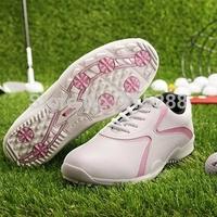 Women Golf shoes waterproof breathable shoes Free PU shoe bag