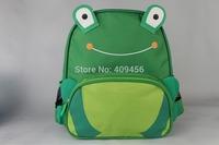 New arrival Cute Cartoon monkey frog bee penguin Kids Boy Girl canvas Backpack Zoo Animal Book School Bags gift  200pcs/lot
