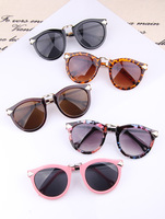 4 Colors Retro Round Eyeglasses Women's Metal Frame Leg Spectacles Sunglasses Free Shipping