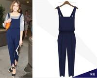 9949 2014 fashion bib pants jumpsuit casual trousers