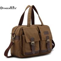 Free Shipping Male brief shoulder bag casual canvas bag messenger bag female handbag men's male bag