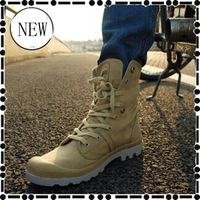 2014 Autumn and winter new High state of canvas straps Men's Military Boots Sabatons Brand Combat boots freeshipping