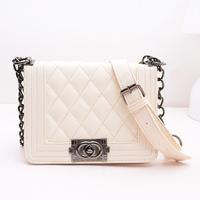 Fashion Cute CC PU Leather Handbag All match Candy Ice Scream Color Handbag Messenger bag
