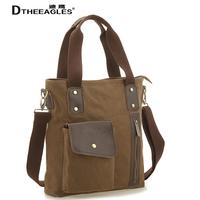 Free shipping Male shoulder canvas casual travel big handbag female multifunctional messenger bag