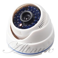 "New arrival promotion 700tvl 1/3"" CMOS 36IR blue leds indoor CCTV White dome Camera Night Vision Security free shipping!"