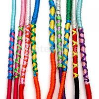 New 2014 Brand New  9 Colorful Thread Friendship Bracelets for Girls Braided Hippie