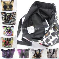 Nice 36 Designs Colorful Ladies Womens Soft Foldable Zip Shoulder Shopping Tote School Sport Bag Handbag Beach Bag Free Shipping