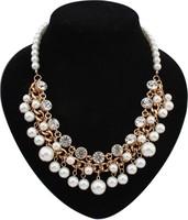 EUN015 Top Quality Guarantee New Dress Chain European Vintage Pearl Choker Necklace