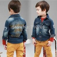 Free shipping  Boys  Outerwear Coats  children outerwear  Jackets & Coats  Letter  Denim jacket coat