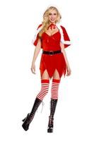 Christmas dress Christmas dress with shawl foreign trade game uniforms sexy Christmas dress irregular