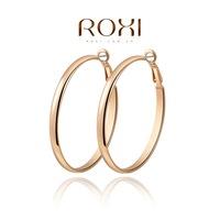 Roxi jewelry fashion earring austria crystal wide hoop earrings gold plated earrings   2020807500