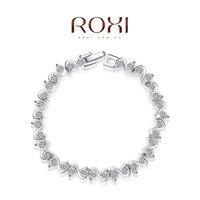 Roxi fashion jewelry austria crystal white gold plated bracelet   2060004745