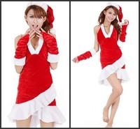 Mermaid dress sexy cute girl Christmas Christmas Christmas party dress Christmas costume play clothes Freeshipping