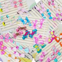 retail sale kids fashion cute lace bowknot hairclip dot Hair Pins girls headwear.25 colors hair  Accessories