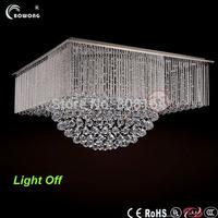 2014 new style modern chrome fan LED lustre ceiling lights crystal lamps ,led bulb light for dinning room decorative