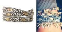 JC100 2014 New arrived LUNA WRAP BRACELET Glass Bead&Box China Triple Wrap Bracelets Blogger Bracelets Free Shipping