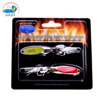 Free shipping, 2set 4pcs sequins fishing spoon 50mm 10g, high quality bait shops.