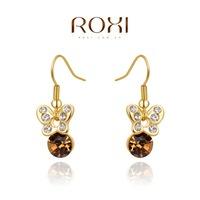 Roxi jewelry fashion earring austria crystal butterfly drop earring  2020214290