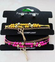 accessories  female fashion multi-layer stud earring bracelet combination set
