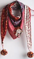 New desigual hmong scarves cape Women Scarves mori girl floral Long Voile Tribal Aztec Scarf Swap Shawl Muslim Hijab monroe