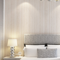Plain woven wallpaper retro minimalist solid wood bedroom living room TV backdrop wallpaper paved