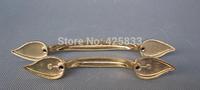 Fashion 5pcs 96mm kitchen door floral leaves handles closet decorative design knobs drawer pull (L:161mm  W:20mm H:25mm)