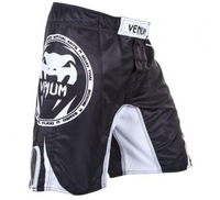 VENUM ALL SPORTS FIGHTSHORTS - BLACK  QUALITY COMBAT BOXING MMA TRAINING BJJ KICKBOXING Muay Thai