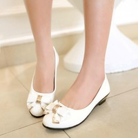 The new spring and summer 2014 women shoes shallow mouth round muffin shoes with a single slope pumps tx123
